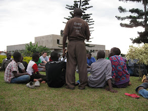 Photo: Semugera training high school students to share their faith.