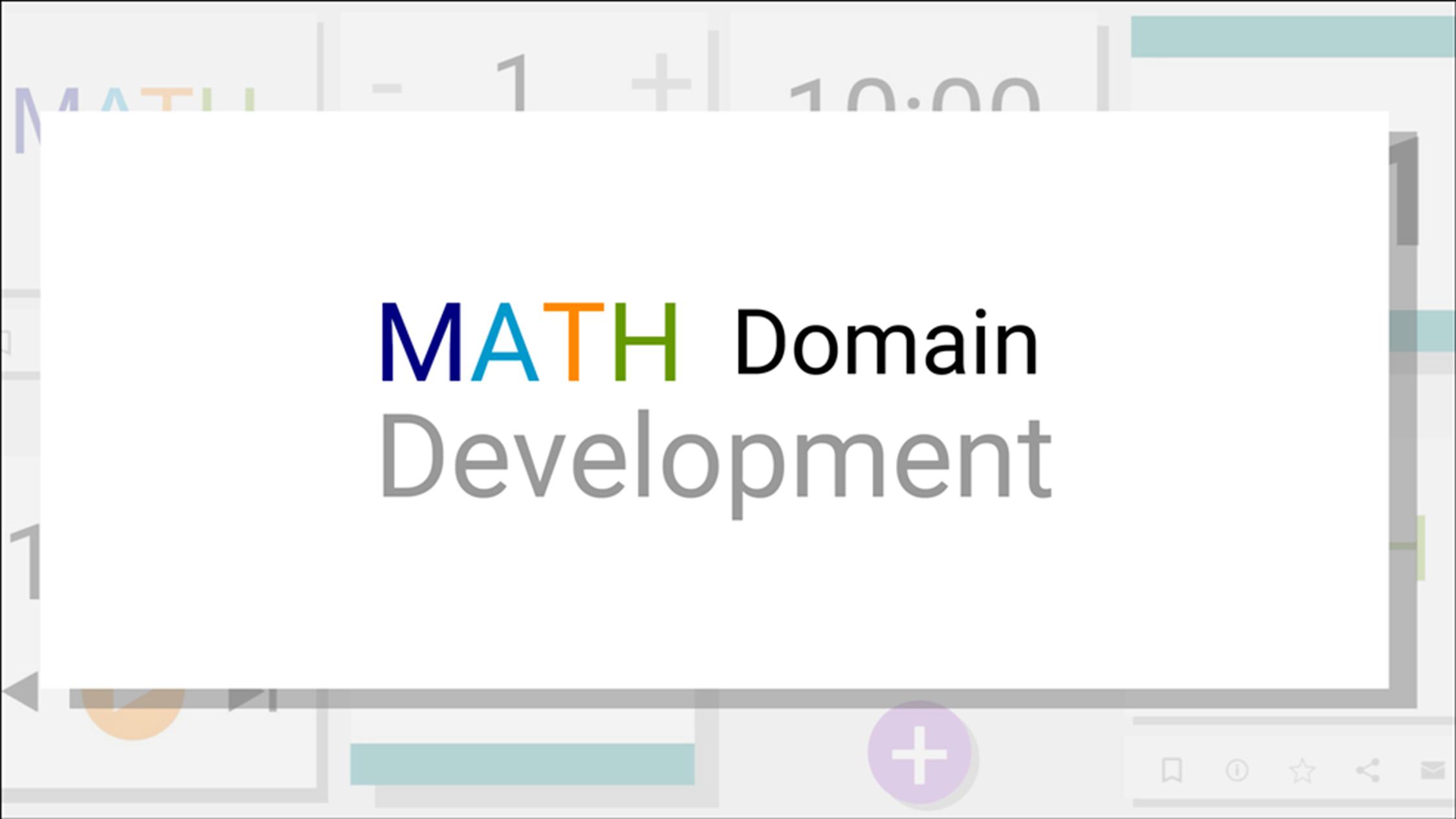 MATH Domain Development