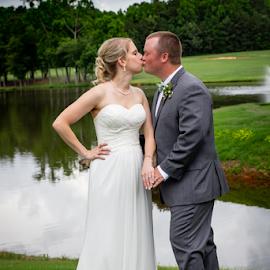by Myra Brizendine Wilson - Wedding Bride & Groom ( bride, couple, groom, bride and groom, wedding, event,  )