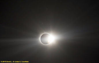 Photo: Second diamond ring as seen from the air. Total solar eclipse, 20 March 2015, North Atlantic
