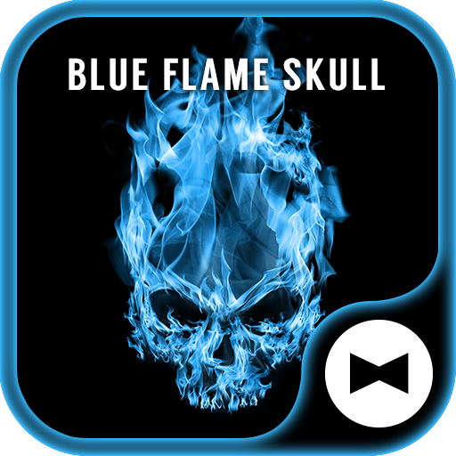Cool Wallpaper Blue Flame Skull Theme Icon