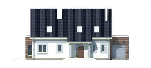 Ada wersja A z pojedynczym garażem - Elewacja przednia