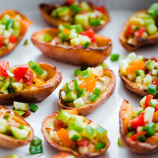 Greek-Style Potato Skins with Hummus
