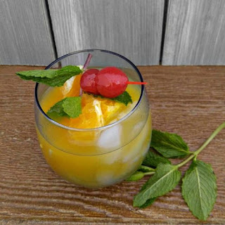 Orange Cherry Mocktail.