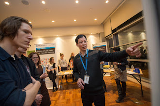 Photo: Dr Bing Wang, SPHPM. Dr Jo O'Toole to the left.