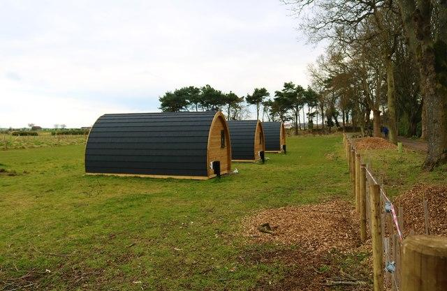 Glamping pods, Silverburn Park © Bill Kasman cc-by-sa/2.0 :: Geograph  Britain and Ireland