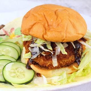 Crispy Honey Sesame Shrimp Burgers #FishFridayFoodies.