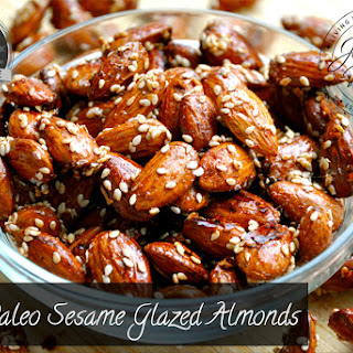 Paleo Sesame Glazed Almonds