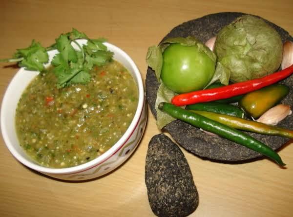Roasted Tomatillo Salsa, (salsa De Tomatillo Asado)