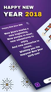Happy New Year SMS 2018 - हैप्पी न्यू ईयर - náhled