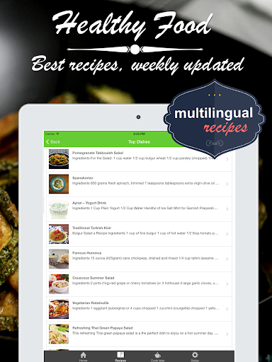 無料健康Appの健康食品 クックブック。クイックとベストレシピ&料理を調理簡|記事Game