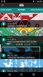 LivePhish- screenshot thumbnail