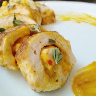 Butternut Pumpkin Chicken Roulade