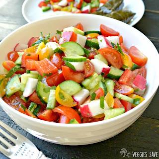 Mediterranean Cucumber and Tomato Salad.