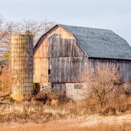 Retired by Jason Lockhart - Buildings & Architecture Decaying & Abandoned ( wisconsin, cold november day, hartford, old barn, hwy 60 )