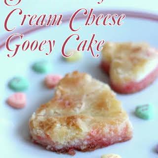 Strawberry Cream Cheese Gooey Cake.