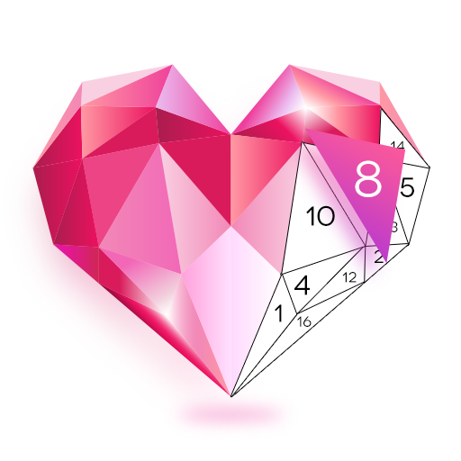 PolyArt Coloring Book - Color by Number - Poly Art Icon