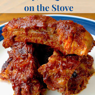 Sweet, Low Carb, Paleo Baby Back Ribs Recipe for the Stove.