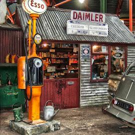 Old fuel Pump by Ana Paula Filipe - City,  Street & Park  Street Scenes ( museum, car, old, retro, pump,  )