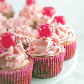Chocolate Chip Cherry Cupcakes.