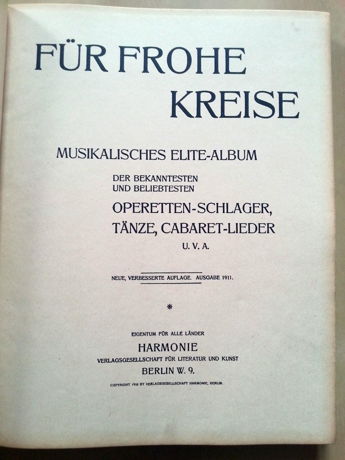 Notenbücher 1911