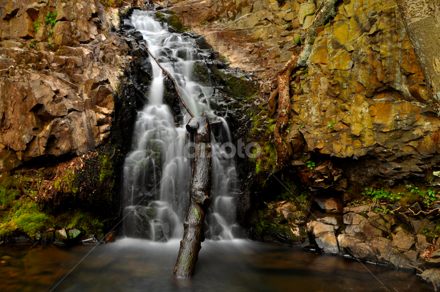 Waterfall Cascades by Justin Benson - Landscapes Waterscapes
