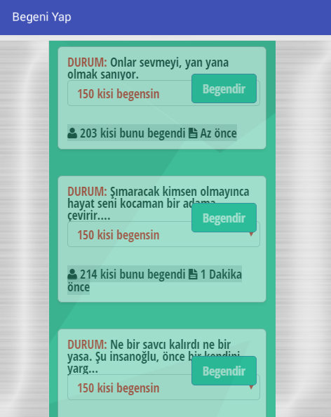 Begeni Yap- screenshot