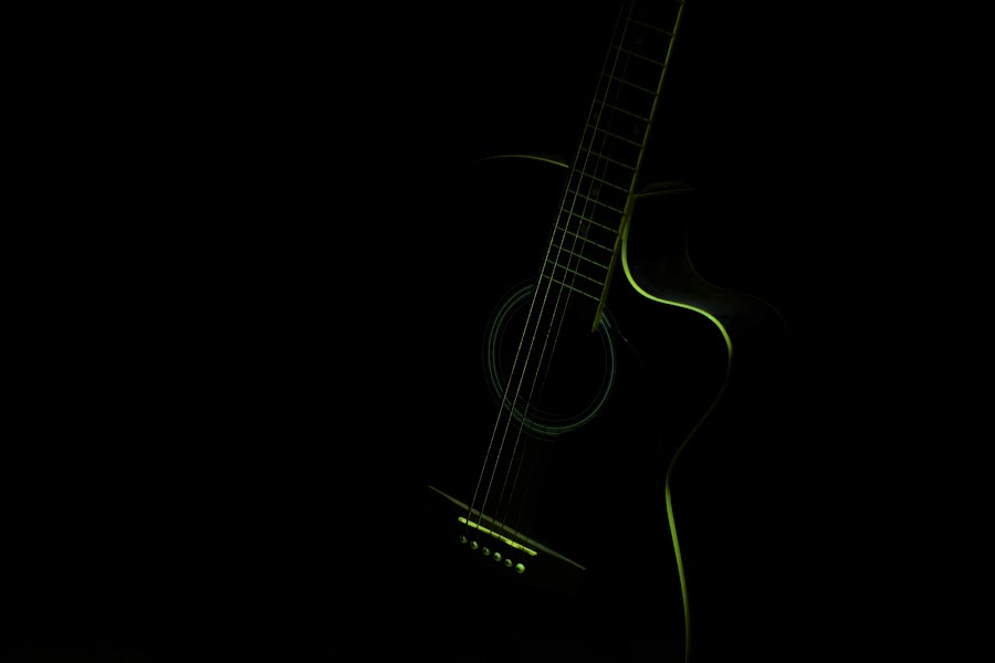 Shades of Music by Gaurav Kumar - Abstract Fine Art ( music, abstract, black and white, d3100, guitar, nikon,  )
