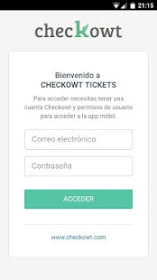 Checkowt Tickets: miniatura de captura de pantalla