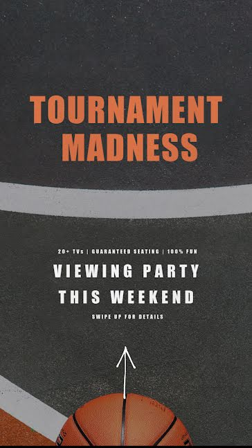 Tournament Madness Party - March Madness Template