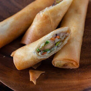 Vegetable Egg Rolls.