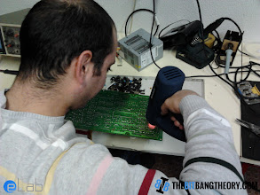 Photo: Desoldering components with hot air gun