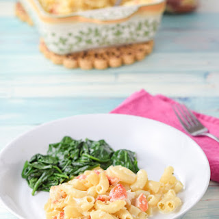 Lucky Me It's Lobster Macaroni and Cheese Casserole