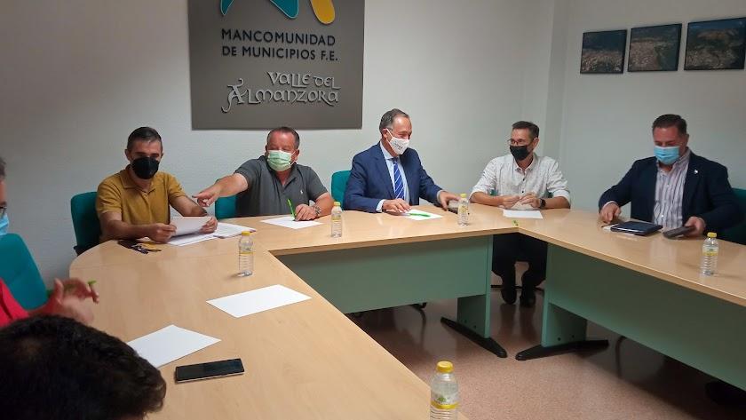 Reunión con los representantes de la Mancomunidad de Municipios del Valle del Almanzora.