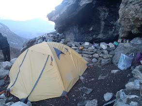 Photo: First camping at 4450m in some old karka at 3-4h up from Muktinath.