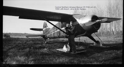 Photo: Central Northern Airways Beaver CF-FHQ s/n 42, 1956 LdB Airport. Jerry & Vic Sarapu