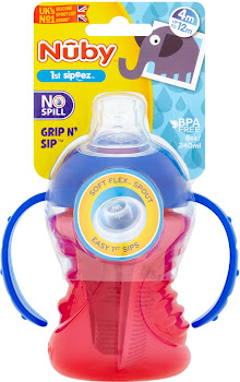 Nûby 1st Sipeez Grip n' Sip - 4m to 12m, 240ml
