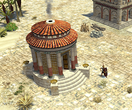 Photo: Roman temple of Vesta. Modeled by 0 A.D. contributor Paul aka Pureon.