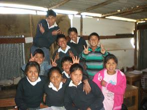 Photo: Some kids Menda´s teaching at the local primaria.