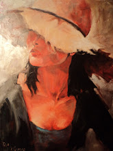 Photo: Ольга Самар, Портрет женщины в шляпе, 70х70, масло, холст, мастихин