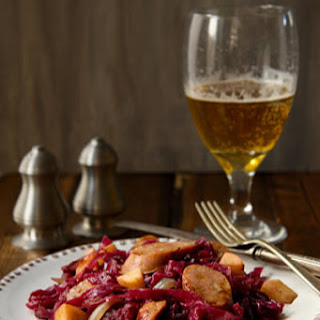 Cider braised Cabbage and Sausage