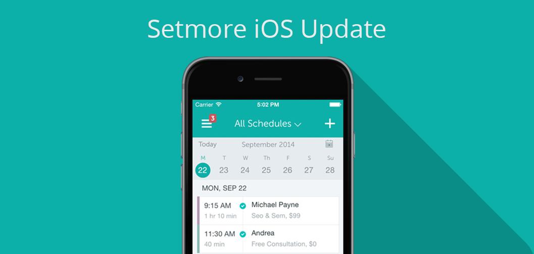 Setmore iOS Update version 1.7.3