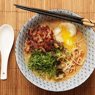 Turkey Paitan Ramen With Crispy Turkey and Soft-Cooked Egg