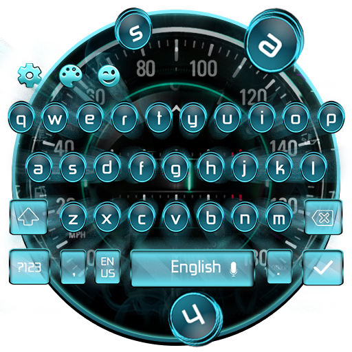 Car Speedometer Keyboard Theme