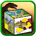 Kids dinosaur puzzle games icon