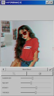 Vaporgram Pro 🌴: Vaporwave & Glitch Photo Editor Screenshot