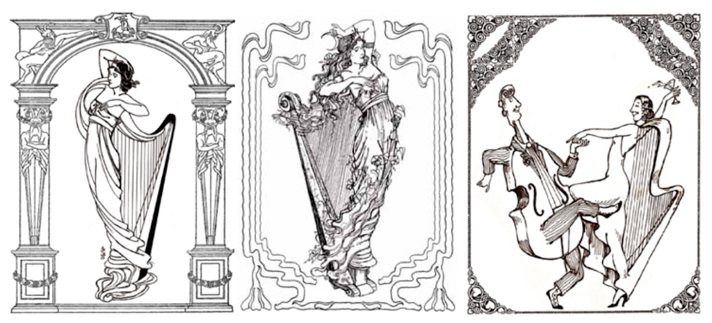 Harp Coloring Book 3-Images