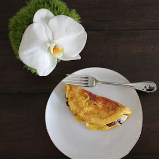 Prosciutto Mushroom and Goat Cheese Omelet
