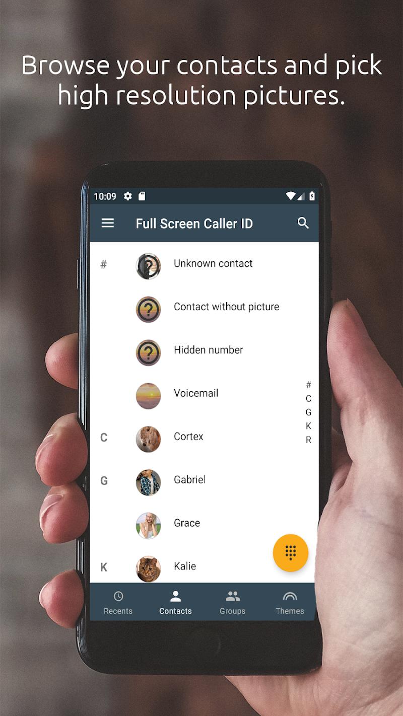 Full Screen Caller ID Screenshot 1