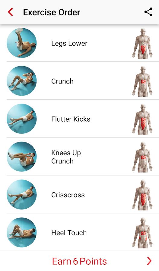 Adrian James 6pack Abs Workout Screenshot
